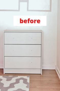 Check out this Ikea dresser hack to decorate your home on a budget. Creative dresser upcycle idea. Ikea dresser hack for your bedroom. Cheap painted dresser update inspiration. #hometalk