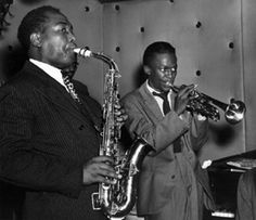 "Charlie ""Bird"" Parker and Miles Davis"