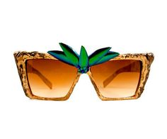 GOLD SCULPTED JEWEL BEETLE WING SUNGLASSES - SUNGLASSES - ACCESSORIES