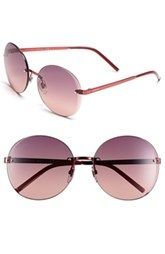 Used Gucci Flora 59mm Rimless Sunglasses Online Low Price