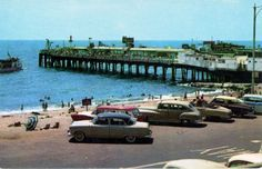 40 Vintage Postcards Show How California Has Changed Since the Mid-1950s ~ Vintage Everyday Redondo Beach Pier, Redondo Beach California, Manhattan Beach California, California History, Southern California, Olvera Street Los Angeles, Little Tokyo Los Angeles, Palisades Park, Los Angeles Museum