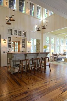 "So open and bright and airy. I love it! ""Kitchen on Daufuskie Island, SC. Group3 Design."""