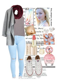 """Dove Cameron inspired"" by my-designs-my-dream ❤ liked on Polyvore featuring Rebecca Minkoff, BCBGMAXAZRIA, Chicwish, Converse, Marc Jacobs, Forever 21, Free People and Mikimoto"