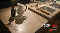 NEWS: INALCO PRESENTS AT LIVINGKITCHEN 2017 THE NEW AURA ITOPKER SURFACE Inalco has presented at the LivingKitchen 2017 Trade Fair held in Cologne (Germany) the new Aura iTOPKer Camel surface, with a brand-new lappato finishing that expands the decorative possibilities of the iTOPKer range for countertops. http://www.inalco.es/en/news/inalco-presents-at-livingkitchen-2017-the-new-aura-itopker-surface.html #Inalcotrends #ecocontractfirenze