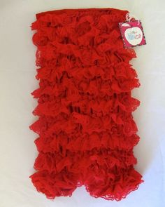 Red Lace Romper-Red baby Lace Romper
