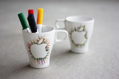 Apple Mugs - Can do with any design :)