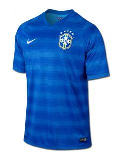 Camiseta #Nike suplente de la selección de #Brasil de #Neymar que se utilizará en el Mundial de 2014 de este verano.