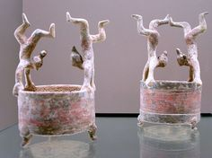 Two Western Han dynasty, terracotta vases with acrobats- Cernuschi Museum 20060812 056 - Chinese ceramics - Wikipedia