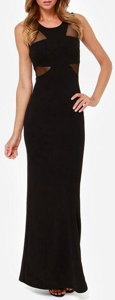 Lasting Impressions Black Maxi Dress.