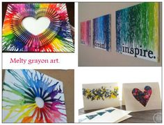 DIY: Melted Crayon Art - I want to do this with Live Laugh Love....@Alex Santley wanna help me this weekend??! :)