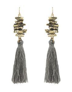 NALEDI Stacked Metal Tassel Earrings   Woolworths.co.za Tassel Earrings, Drop Earrings, African Jewelry, Designer Earrings, Jewelry Branding, Accessories Shop, Ear Piercings, Tassels, Metal