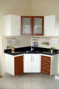 Outdoor kitchen: 45 ideas of decoration with photos - Home Fashion Trend Kitchen Room Design, Kitchen Cabinet Design, Home Decor Kitchen, Diy Kitchen, Kitchen Interior, Kitchen Cabinets, Kitchen Models, Cuisines Design, Apartment Kitchen