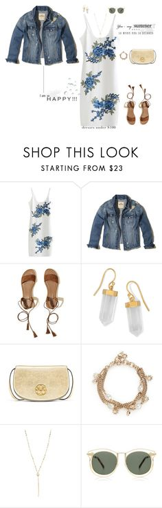 """Summer Loving"" by jenily ❤ liked on Polyvore featuring Hollister Co., BillyTheTree, Tory Burch, Alexander McQueen, Chan Luu and Karen Walker"