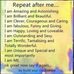 Affirmations to build self esteem
