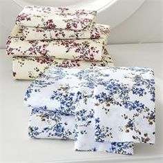 350-Thread Count Watercolor Floral Sheet Set