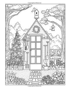 Christmas Houses Coloring Pages Inspirational Coloring Pages for Adults Houses House Colouring Pages, Coloring Book Pages, Printable Coloring Pages, Coloring Sheets, Coloring Pages For Grown Ups, Free Adult Coloring, Colorful Pictures, Embroidery Patterns, Prints