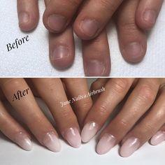 Airbrush Nails, Polygel Nails, Beauty, Beleza, Cosmetology