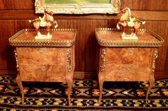 Artisan Tony Jones' French Side Tables with A Pair of Tang Horses | eBay