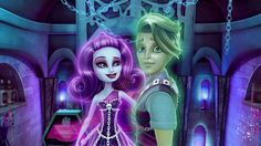 Monster High: Haunted Wallpaper and Background Image Ever After Dolls, Monster High Characters, Nickelodeon Cartoons, Love Monster, Computer Wallpaper, Disney Animation, Happy Kids, Art Music, I Love Dogs