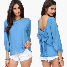 Never frown, even when you are sad, because you never know who is falling in love with your smile. Wear this #ChiffonBlouse, show your most beautiful smile.