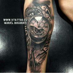 tattoo v tattoo tattoo 2016 watch tattoos time tattoos tattoo clock . Forearm Tattoos, Body Art Tattoos, New Tattoos, Hand Tattoos, Tattoos For Guys, Cool Tattoos, Maori Tattoos, Tatoos, Time Piece Tattoo