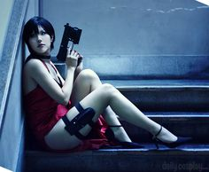 kasane as Ada Wong from Resident Evil 4  http://dailycosplay.com/2012/December/5b.html  http://dailycosplay.com/