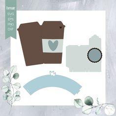 "Plotterdatei ""Kaffeezeit + Box + Papiere"" - beemybear Kaffee To Go, Silhouette Files, Box, Personalized Stationery, Creative, Snare Drum"