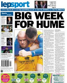 Today's back page 29-10-13