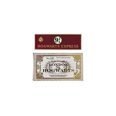 Harry Potter Hogwarts Express Sign & Ticket Wall Decal Set: WBshop.com... ❤ liked on Polyvore featuring harry potter, fillers, hogwarts, backgrounds, hp, text, phrase, quotes and saying