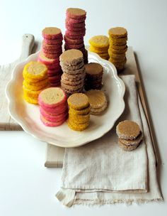 Good for any occasion, ice box cookies that can be rolled in any color of sugar or sprinkles, sliced and baked.