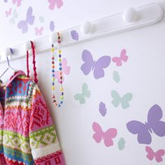 Childrens Butterfly Flutter Wall Stickers Set - best gifts for girls