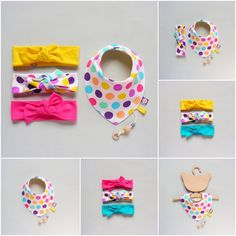 Girl Fashion / Baby Hair Wraps / Baby Girl Headbands / Knot Headbands / Set of 3 This is a set of very simple and cute headbands Its easy to wear - Baby Hair Style Sewing Headbands, Cute Headbands, Baby Girl Headbands, Baby Turban, Knot Headband, Girl Shower, Baby Sewing, Baby Bibs, Sewing Patterns