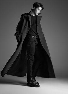 Hong Jong Hyun - Harper's Bazaar Korea November 2016 Hong Jong Hyun, Jung Hyun, Lee Jong Suk, Park Hae Jin, Park Seo Joon, Asian Actors, Korean Actors, Korean Dramas, Sherlock Coat