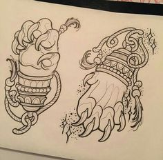 Alisha Harding's Work Want something like this with a Gorilla/Sasquatch hand instead Tattoo Flash Art, Tatoo Art, Body Art Tattoos, Japanese Tattoo Art, Japanese Tattoo Designs, Tattoo Sketches, Tattoo Drawings, Japan Tattoo, Oriental Tattoo