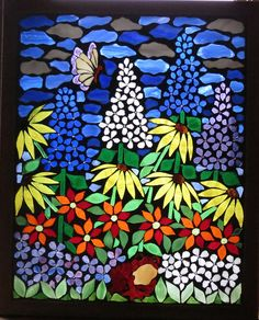 mosaics by Glass Artworks Mosaic Garden Art, Mosaic Tile Art, Mosaic Artwork, Glass Artwork, Mosaic Crafts, Mosaic Projects, Mosaic Glass, Mosaic Pots, Pebble Mosaic