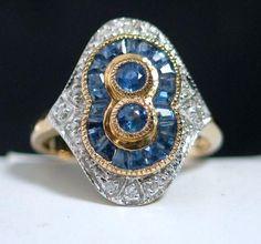 http://rubies.work/0191-ruby-rings/ DIAMOND SAPPHIRE ANTIQUE RING!