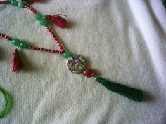 "Free shipping. Boho hippie Christmas tassel necklace 30"" by BohoChicByDenise on Etsy"