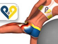 Abdução do quadril na bola suíça , exercicios musculação para gluteos - YouTube