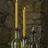 Bottelabra Bronze Taper Holders Turn wine bottles into distinctive candelabras with our Bottelabra candle accessories. Designed to hold tapers or tealights, Bot
