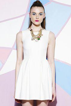 Sleeveless Slim Fit White Dress