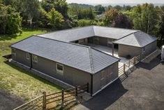 A beautiful new Scotts stable yard in Kent, as seen from above!