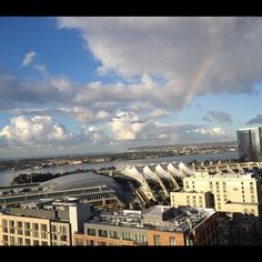 Incredible shot taken from our rooftop by hotel guest Melissa Fossum. #sandiego #view #rainbow