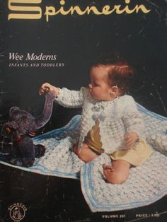 Vintage Crochet Patterns-WEE MODERNS-Infants & Toddlers by Spinnerin(1970)