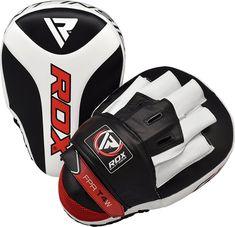 RDX Hook /& Jab Focus Mitts Boxing Pads Noir Black T15