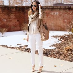 All neutral look