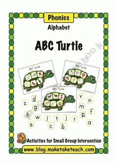 ABC Turtle free printables. Nice for file folder game!