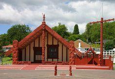 Tamatekapua Meeting House - Ohinemutu, Rotorua, New Zealand. - My Marae <3