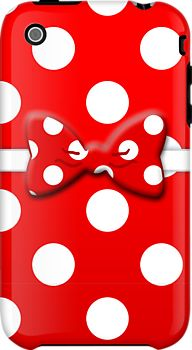 Minnie Red iPhone case by magicalribbons