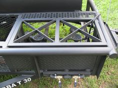 Lone Star Custom Pits and Grills - Bubba T 30 - College . Bbq Smoker Trailer, Bbq Pit Smoker, Barbecue Grill, Trailer Smokers, Custom Bbq Smokers, Custom Bbq Pits, Build Your Own Smoker, Bbq Catering, Homemade Smoker
