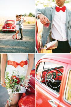 Fun red VW shoot by Bell Studio